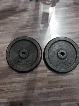 2 discos de 20kg