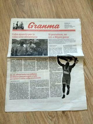Ejemplar de Granma - Periódico Cuba