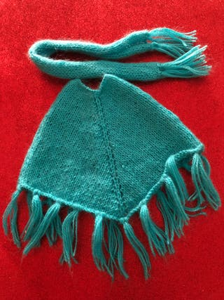 Conjunto poncho bufanda muñeca Bjd, Nancy