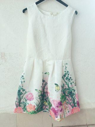 Vestido floral blanco
