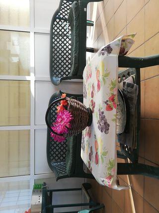 mobiliario de jardín de plástico