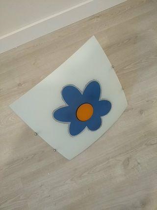 lampara flor azul