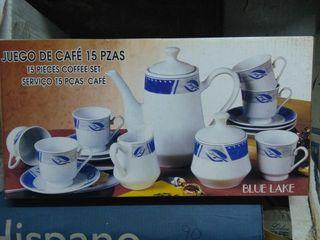 Juego café 15 piezas NUEVO