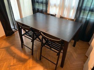 Conjunto de salón IKEA mesa y 4 sillas