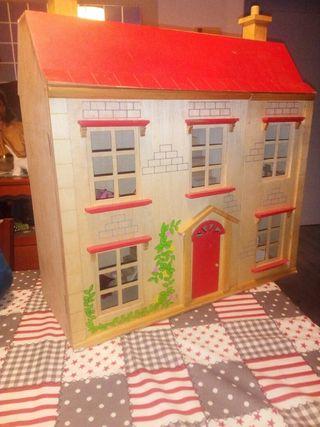 gran casa madera muñecas para jugar