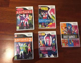 pack de 5 juegos just dance