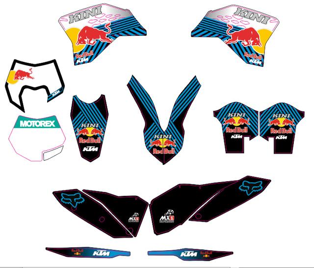 KIT pegatinas KTM 2008-11 EXC, SM, KTM 2006-10 SX