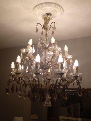lámpara araña de bronce