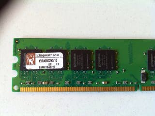 Memoria RAM DDR2 1GB para PC Kingston