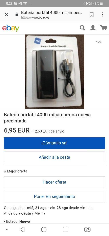 AHORRA 5€!! Bateria NK SIN ABRIR