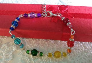 Rainbow themed bracelet