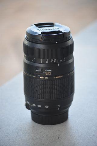 Objetivo Tamron 70-300 para Nikon nuevo