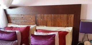 Cabecero teca/bambú cama 1,50