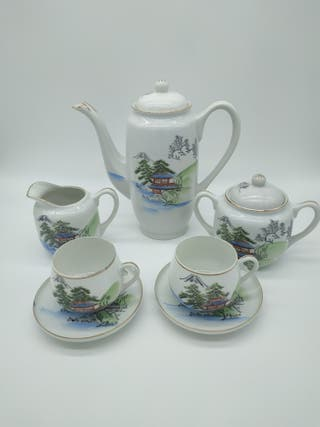 Juego de té de porcelana fina japonesa