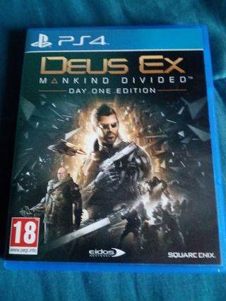 DEUS EX ( MANKIND DIVIDED ) PS4
