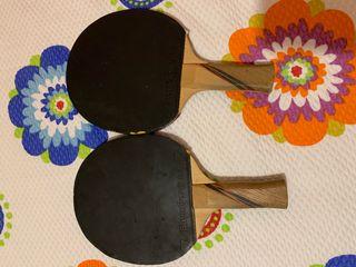 Raquetas pin pon boomerang