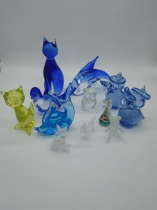 Lote figuras de cristal