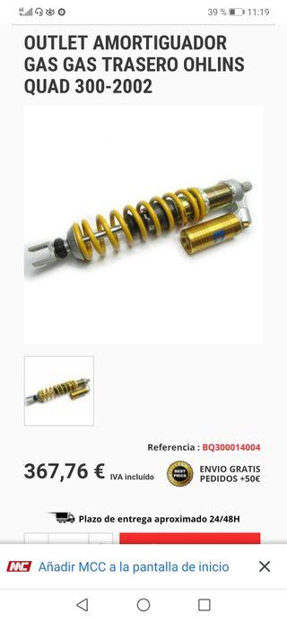 amortiguador trasero gas gas fse450