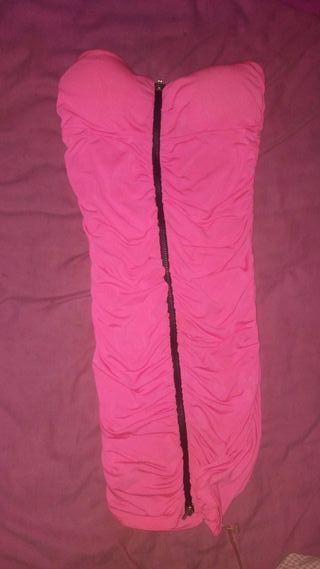 vestido rosa solo un uso