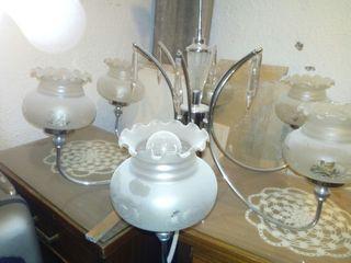 lampara de araña antigüa