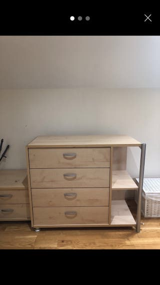 chest of drawers, bedside table, PC table