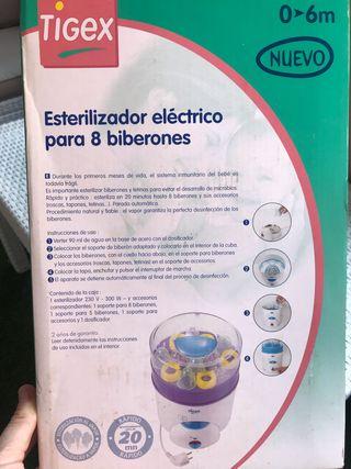 Esterilizador biberones eléctrico