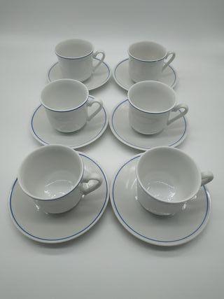 Juego 6 tazas porcelana Zajecar (Yugoslavia)