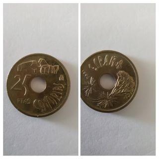 Moneda 25 pesetas 1994 Canarias.