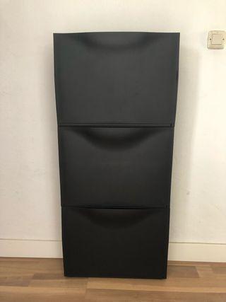Zapatero / almacenaje negro (3 unidades)