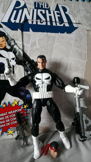 marvel legends vintage punisher, figura