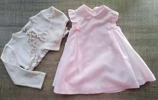 Vestido y chaqueta Mayoral T:6-9m.Ropa bebé