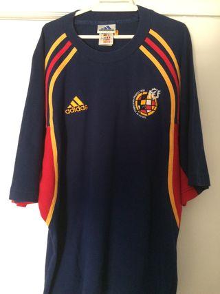 Camiseta entrenamiento seleccion española fútbol.