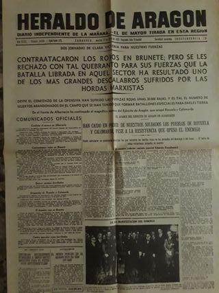 Facsímil periódicos.Guerra Civil Española