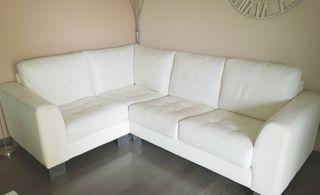 Sofa rinconero de piel