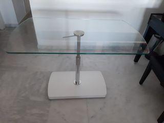 Mesa moderna de diseño elevable de cristal