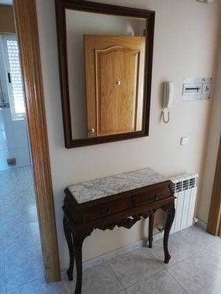 mueble más espejo para entrada
