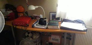 mesa escritorio+estanterías