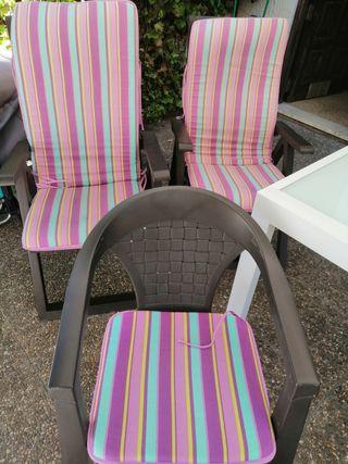 Colchonetas sillas jardin