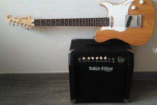 Guitarra eléctrica YAMAHA y amplificador