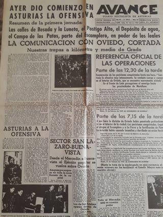 Facsimil.Periódicos.Guerra civil Española