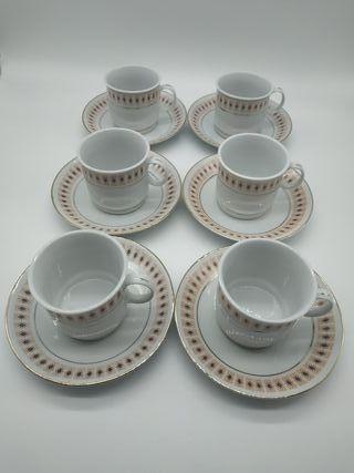 Juego de 6 tazas de café chinas