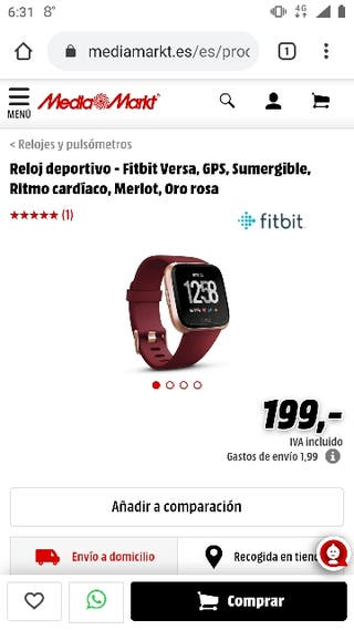 Fitbit versa NUEVO 100%