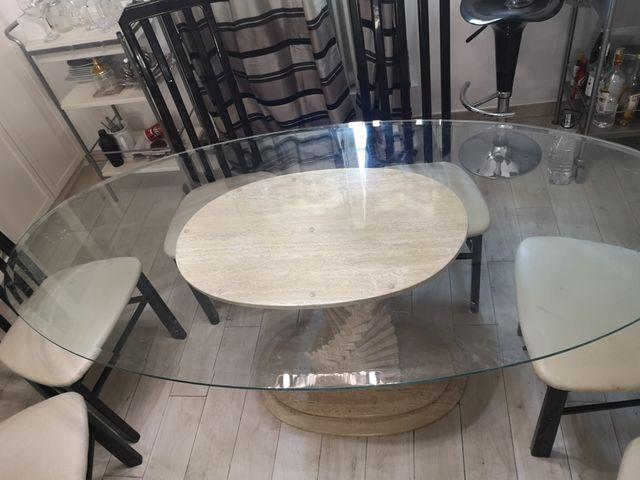 mesa comedor de mármol vintage