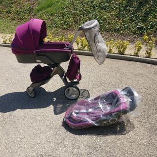 coche bebe Stokke con silla de paseo