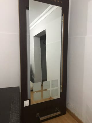 Espejo de peluqueria con luz