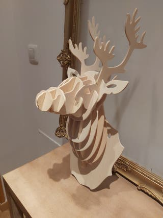 Cabeza de arce de madera