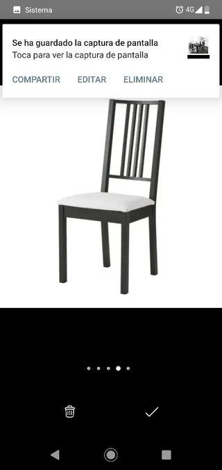 4 sillas Salon BORJE IKEA