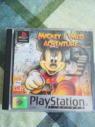 Mickey's Wild Adventure Pal España Completo Ps1 Ps