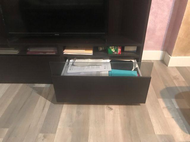 Mueble salon TV color wengé. REBAJADO!