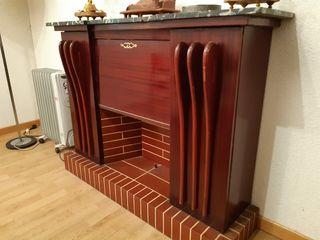 Chimenea mueble bar vintage